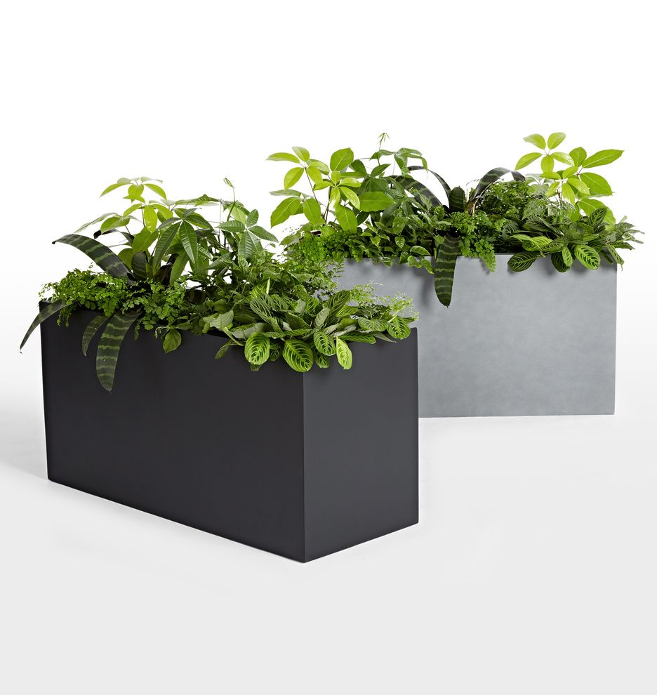 planter city rectangle fiberglass planters naples large format rectangular naple