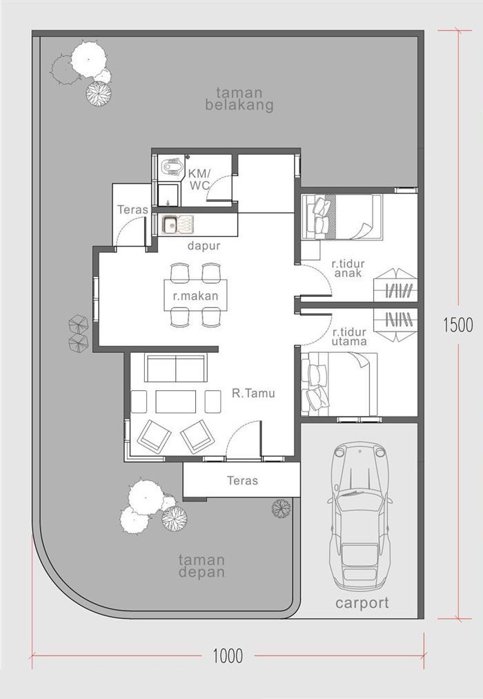 Two Bedroom 60 Sq M House Plan Pinoy Eplans Small House Plans Bungalow House Plans Little House Plans