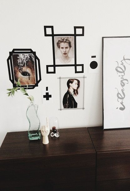 No Frame, No Problem! I\'ve been really obsessed with washi tape wall ...