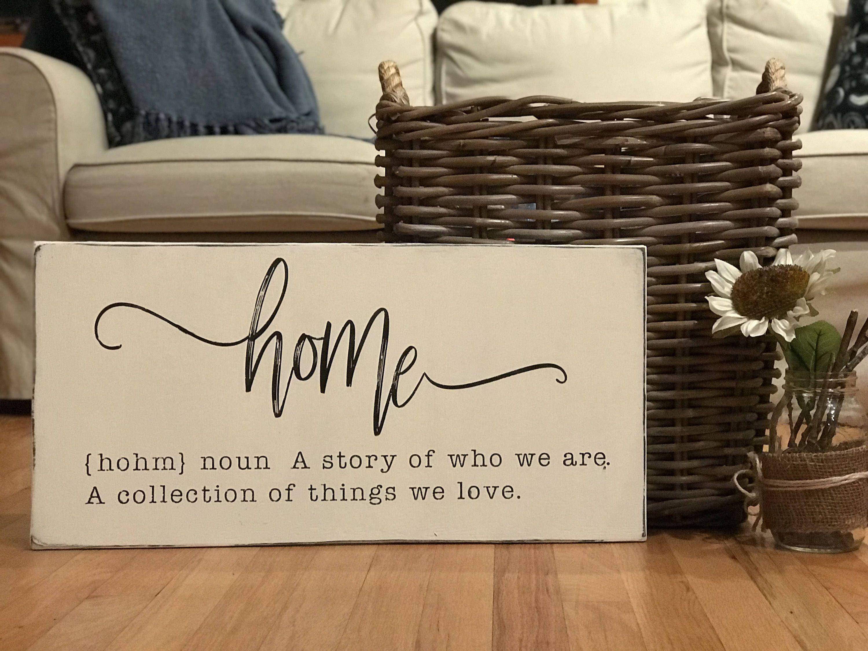 Farmhouse Style Home Sign - Rustic Home Decor - Housewarming Gift ...