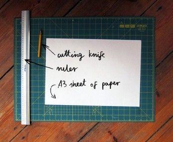 用意するもの:  カッター  定規  A3用紙