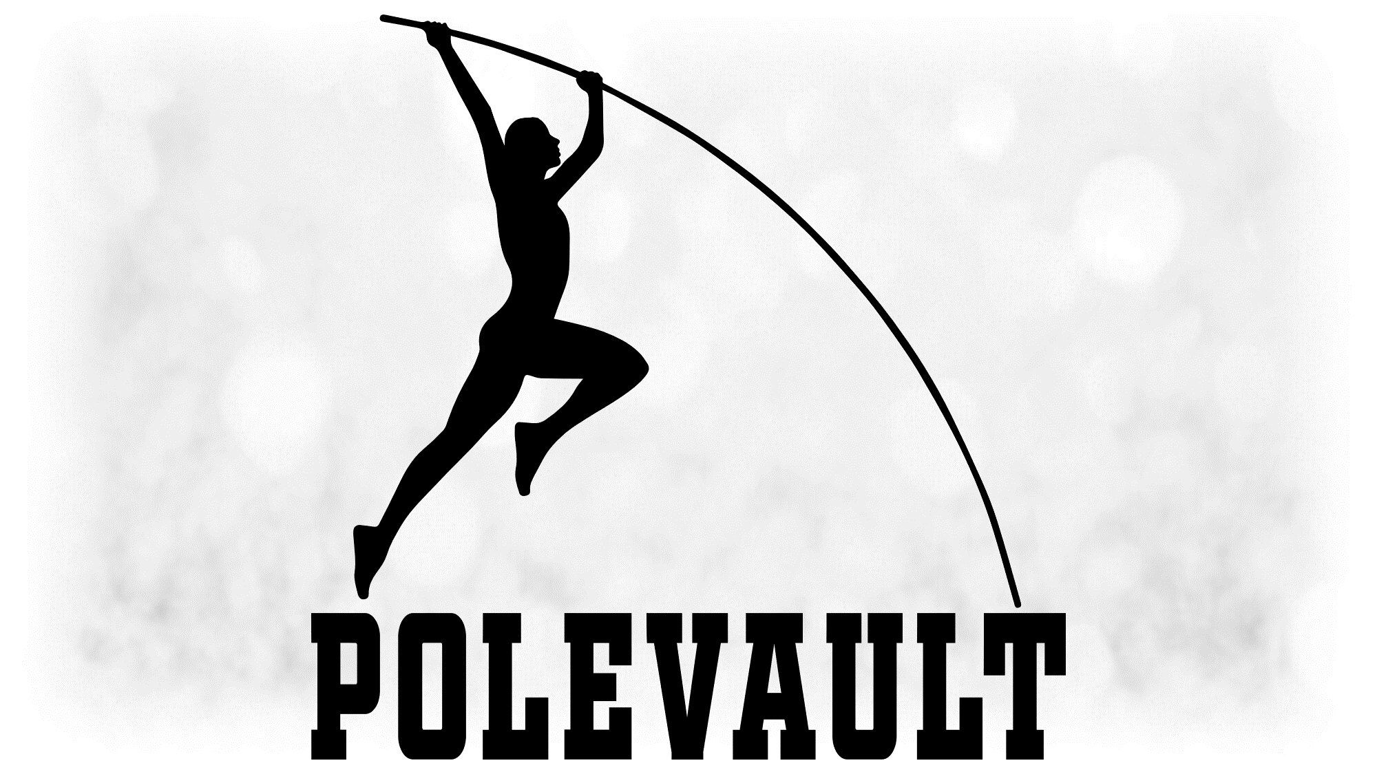 Sports Clipart Large Black And White Track Field Words Etsy In 2020 Track And Field Pole Vault Black And White