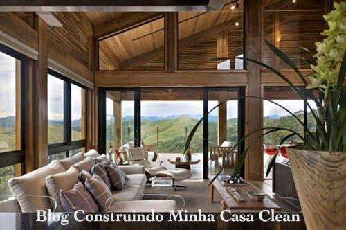 Construindo minha casa clean 30 casas de campo decoradas for Decoracion de casas brasilenas