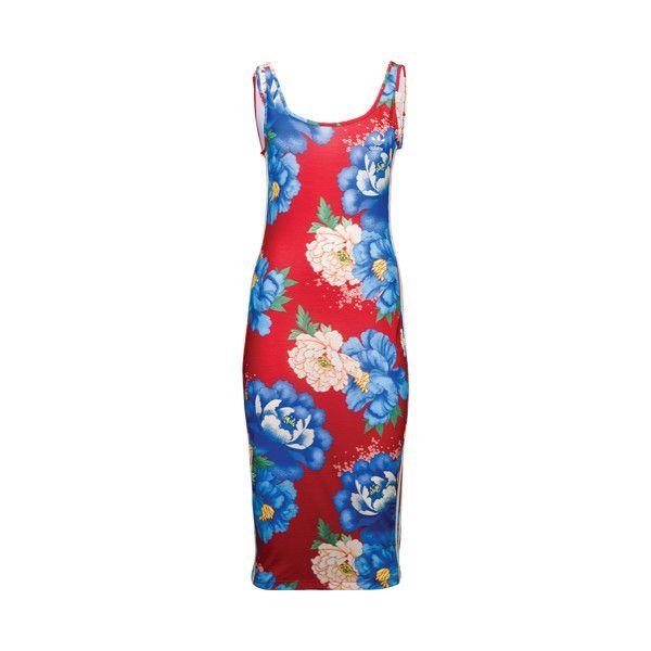 on sale 5d1e3 2f315 adidas Originals Farm Chita Tank Dress - Womens - Casual - Clothing -... ❤  liked on Polyvore featuring dresses, red tank dress, tanktop dress, ...