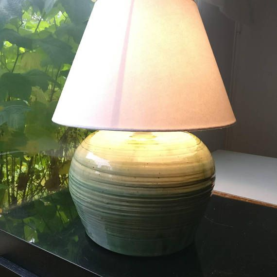 I Have Made This Table Lamp With Potters Wheel From Clay. After Bisque  Firing I Glaze It With High Temperature Glaze I Have Colored To Green With  Copper ...