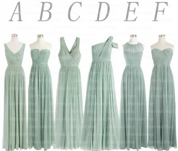 Popular Cheap Bridesmaid Dress,Dusty Green Bridesmaid Dress, Mismatched Bridesmaid Dress,Chiffon Bridesmaid Dress, Wedding Party Dress,Long Bridesmaid Dress,Bridesmaid Dresses,Bridal Gowns,17701