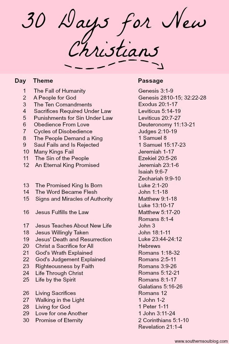 30 Days for New Christians Reading Plan