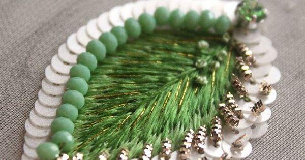А у меня уже появились первые листочки. #вышивка #бисер #весна #зеленый #листья #ручнаяработа #ручнаяработаекатеринбург #пайетки #процессработы #лю… | Pinteres…