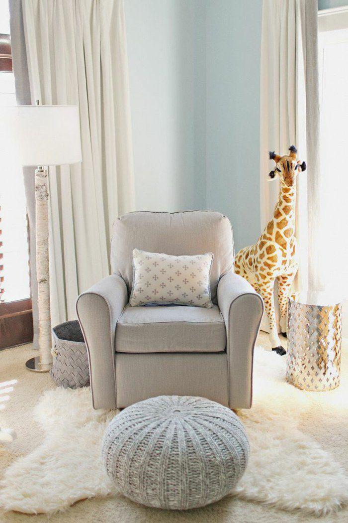 ides en 50 photos pour choisir les rideaux enfants rideaux blancsles rideauxfauteuil gristapis blancchambre - Fauteuil Gris Pour Chambre