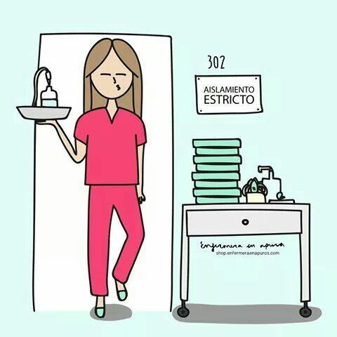 Enfermera En Apuros Enfermera Ser Enfermera Enfermera Caricatura
