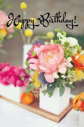Happy Birthday Planter Des Fleurs Fleurs Deco Fleur