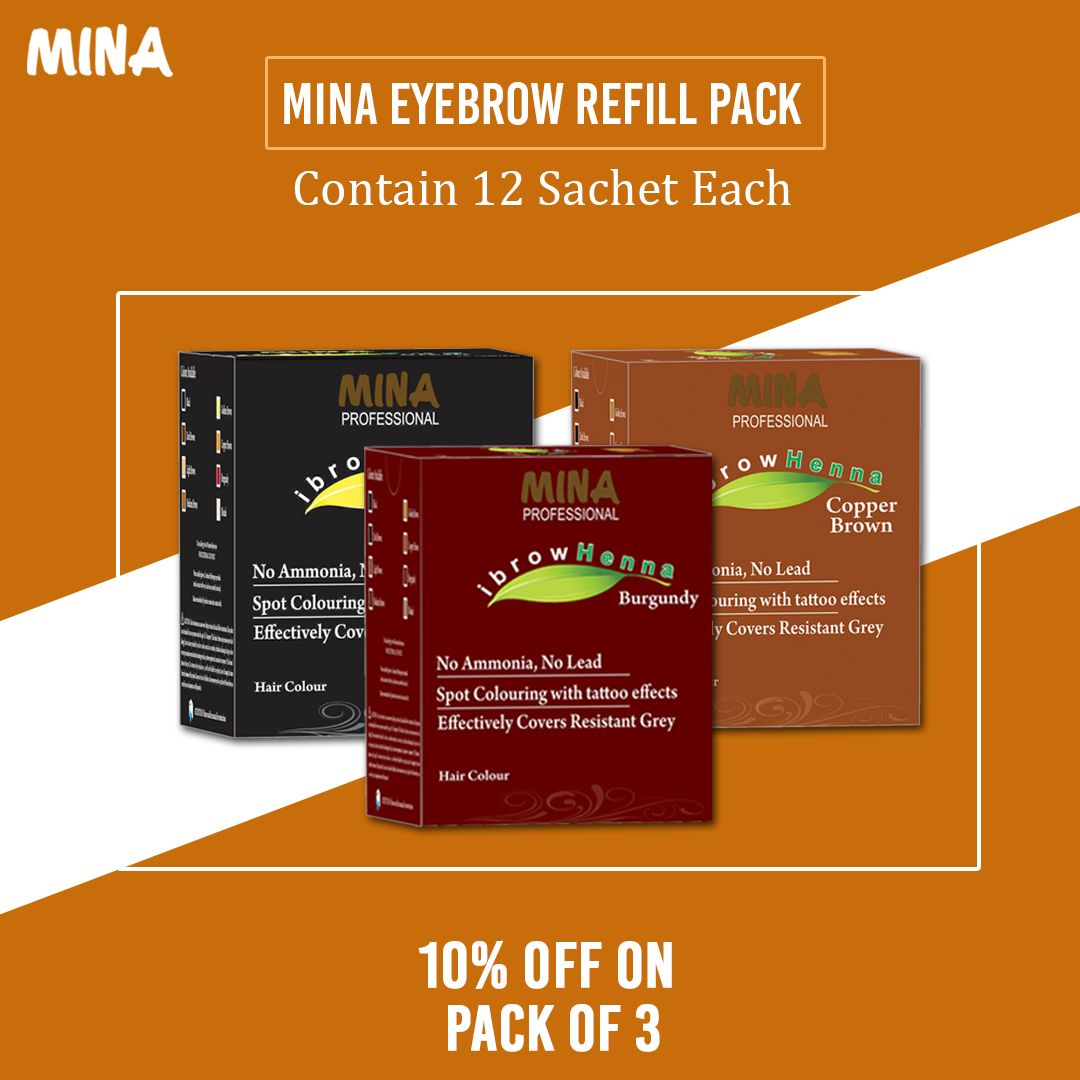 Get 10% on 3 refile pack on any colour. #browshape #perfectbrow #browlove #eyebrowexpert #eyebrowwaxing #eyebrowqueen #eyebrowstudio #browrepair #browwax #eyebrowsonpoint #browgame #hdbrows #mmes #browtint #hennabrows #hennabrowtint #hennaeyebrowstint #browsalon ##browtraining #eyebrowhenna #eyebrowhennafromindia