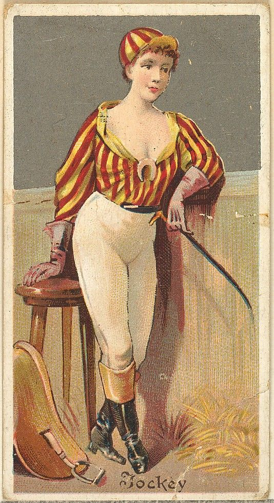 Vintage woman postcard. An 1800s showgirl / actress in