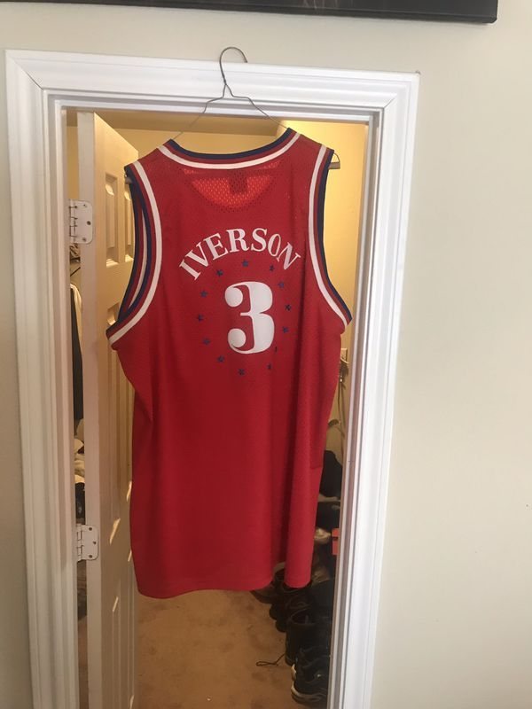 sports shoes d9e87 ef4fc Authentic Allen Iverson Jersey XXL. for Sale in Fort Worth ...