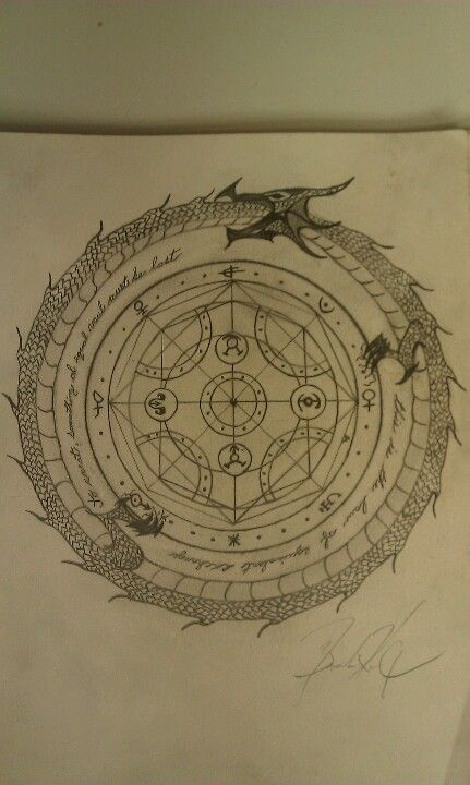 Transmutation Circle Tattoo: Transmutation Circle I Drew Hope To Get It Tattooed One