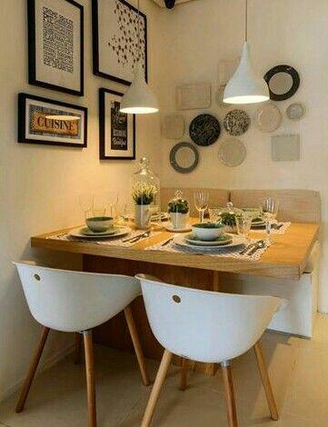 Mesa para espacios pequeños   deco   Pinterest   Comedores, Mesas y ...