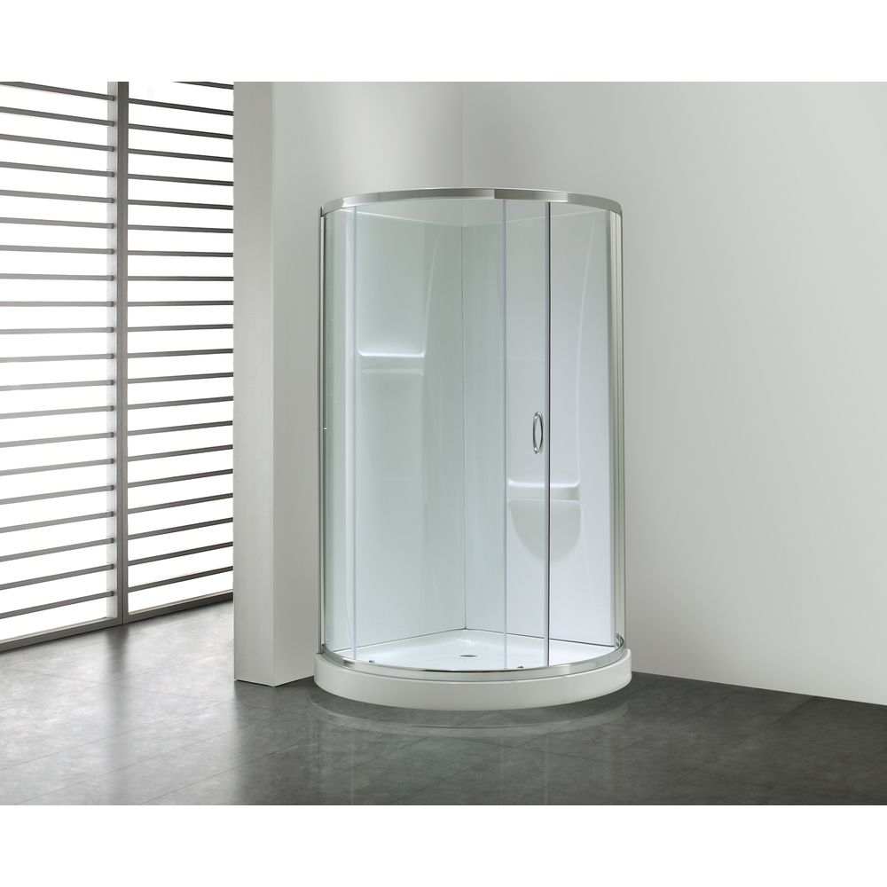 Ove Decors \'Breeze\' 34-inch Round Corner Shower Enclosure ...