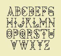 Cool Font Letter