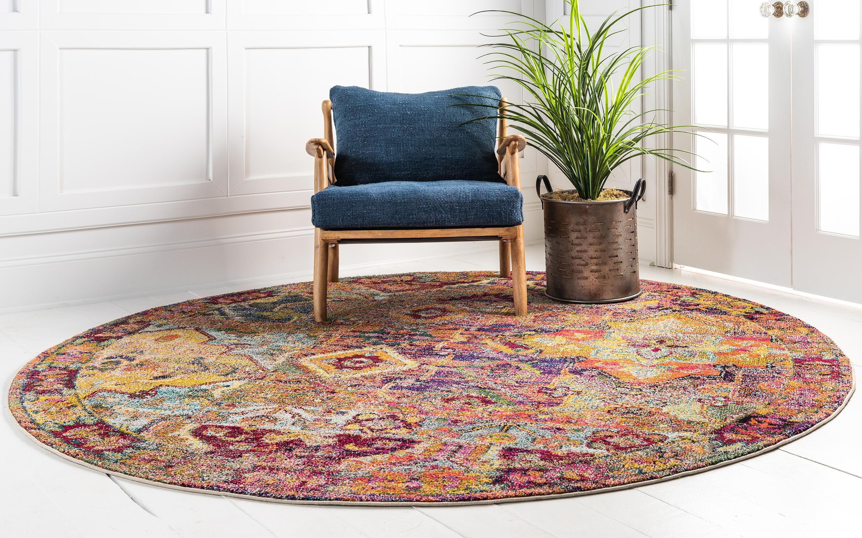 Multicolor 6 X 6 Alta Round Rug Affiliate Multicolor Alta