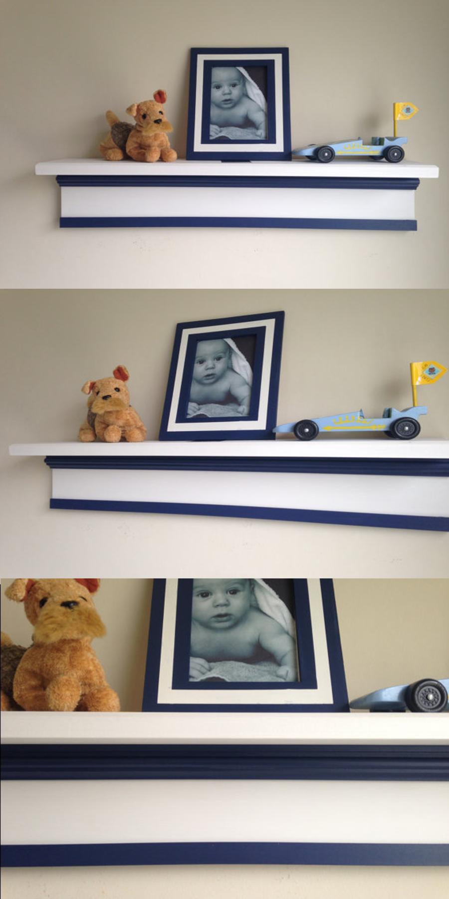 Personalized nursery wall shelf/child's wall shelf/custom