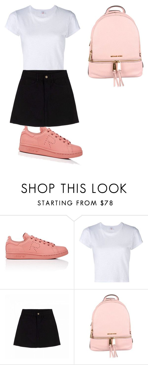 """🦄"" by gnatalia ❤ liked on Polyvore featuring adidas, RE/DONE and MICHAEL Michael Kors"