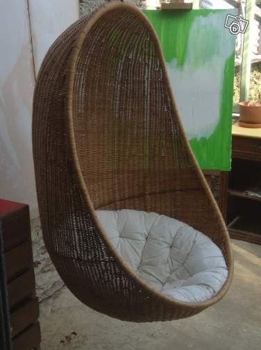 chaise suspendue rotin ameublement manche 100 euros cherbourg meditation. Black Bedroom Furniture Sets. Home Design Ideas