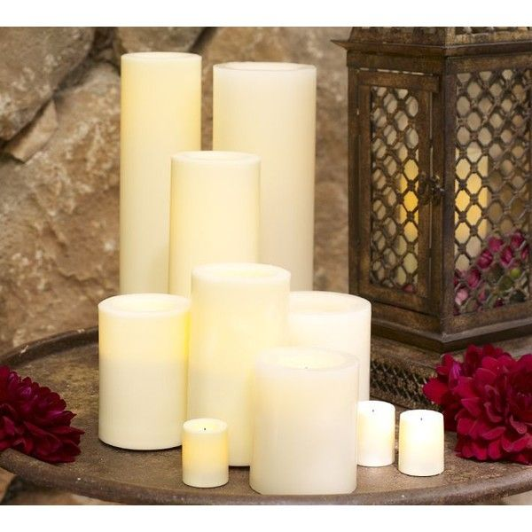 Pottery Barn Flameless Candles Prepossessing Pottery Barn Flameless Wax Candle $13 ❤ Liked On Polyvore  My