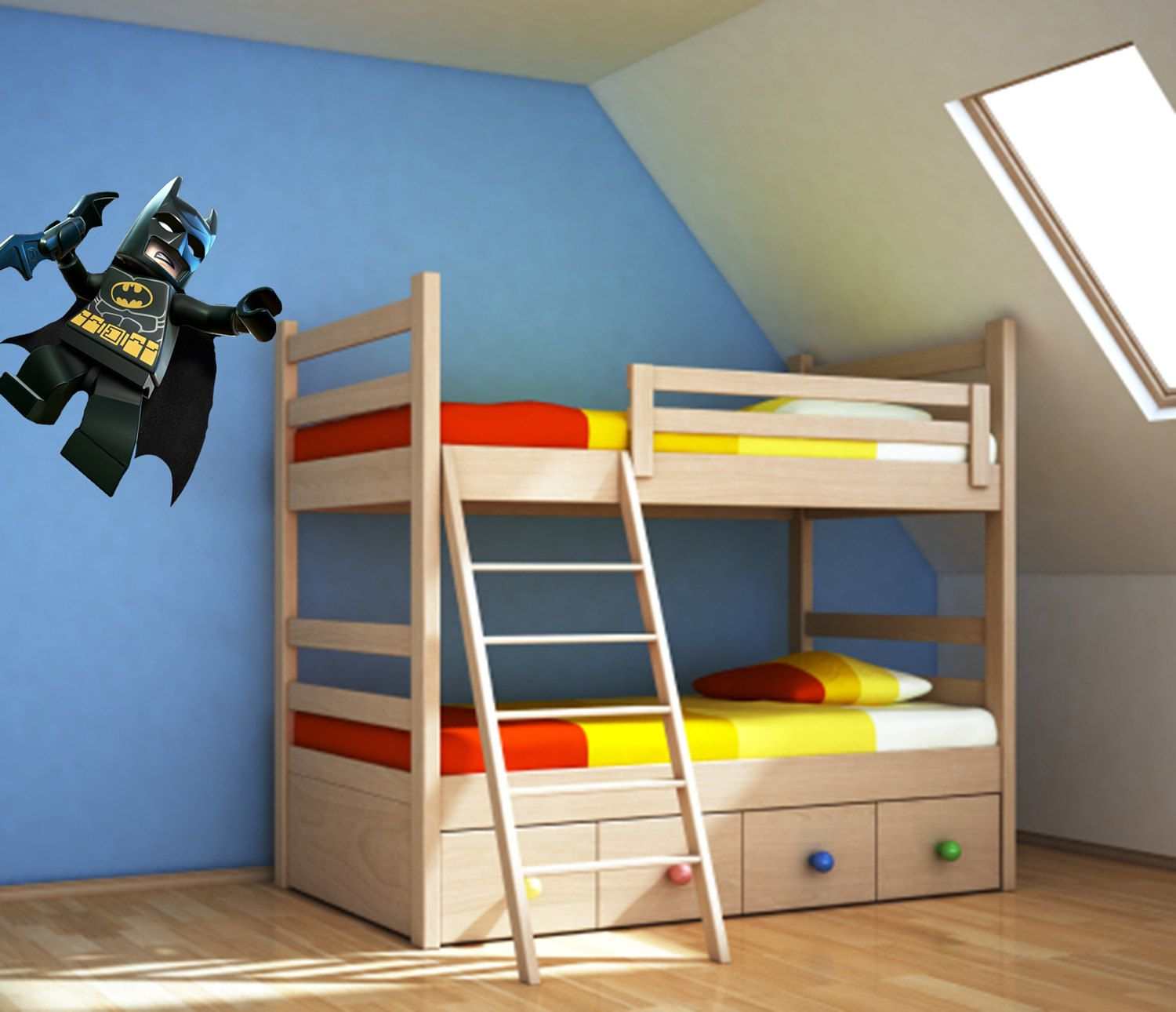 Batman Lego Reusable Canvas Peel And Stick Poster Wall Decal