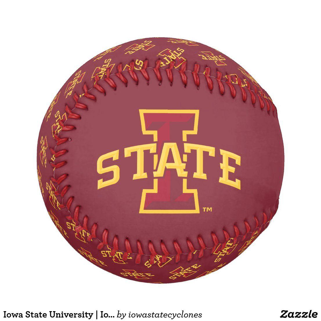 Iowa State University | Iowa State Arched Logo Baseball | Zazzle.com