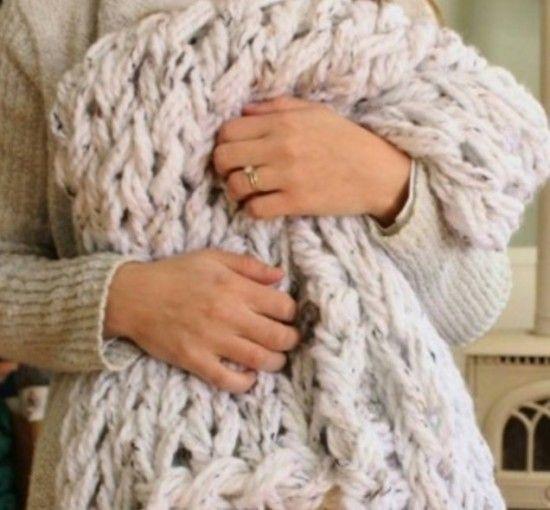 Arm Knit Blanket Tutorial Easy DIY Pattern Video ...