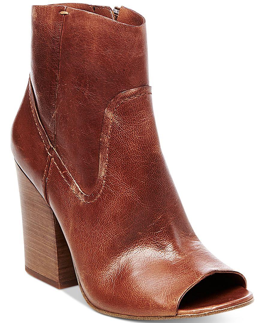 534142f586f9 Steve Madden Women s Veronah Peep-Toe Block-Heel Booties