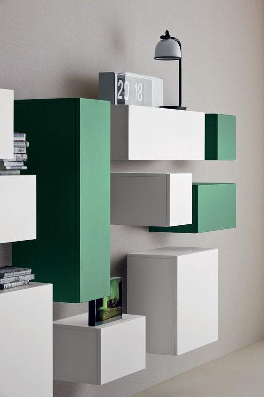 sistema modulare   librerie   modello Spazio Moduli   Pianca design made in italy mobili furniture casa home giorno living notte night