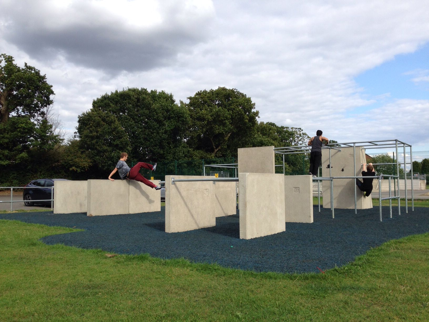 Baldwins Lane Croxley Green Parkour Park What An Amazing Place Designed And Installed By Freemove Www Freemove Co Uk Parkour Parkour Training Outdoor Gym