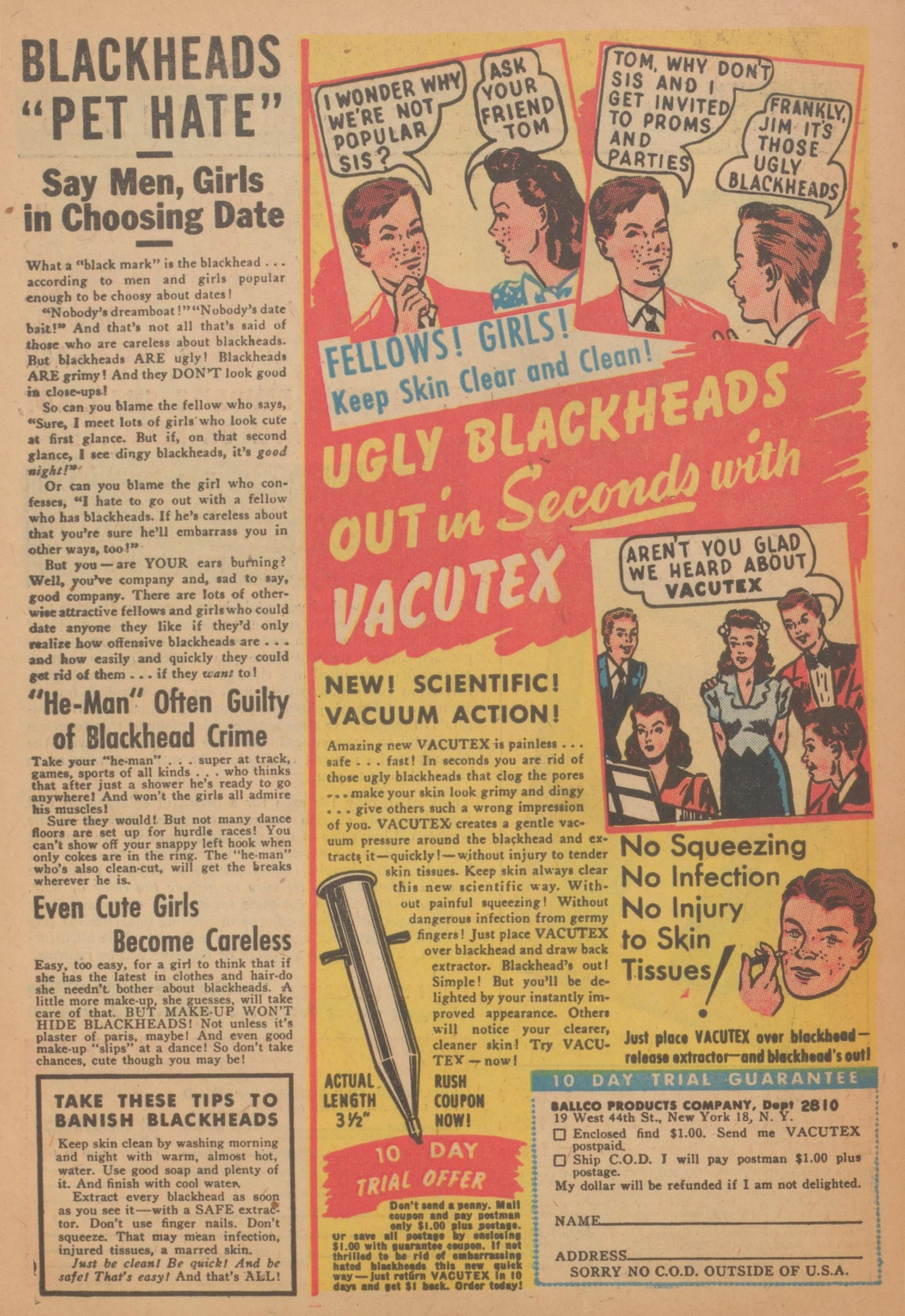Print Ad From A 1951 Comic Book Vintage Ads Advertising History Retro Ads