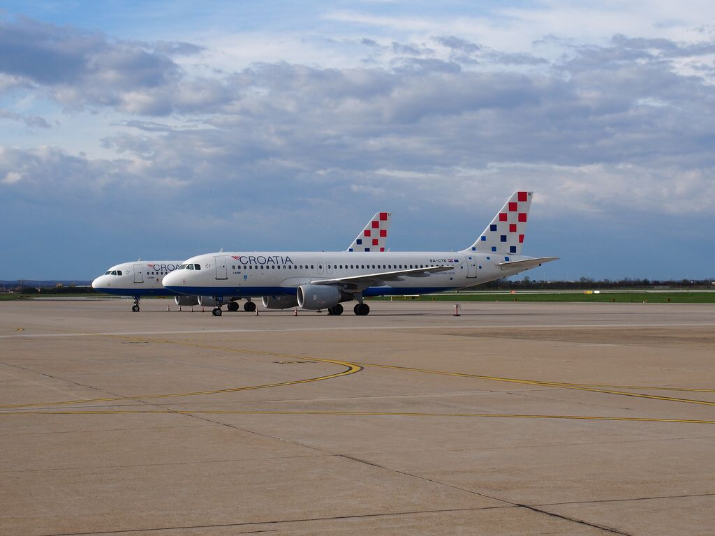 Croatia Airlines Aircraft At Zag In 2020 Croatia Airlines Croatia Aircraft