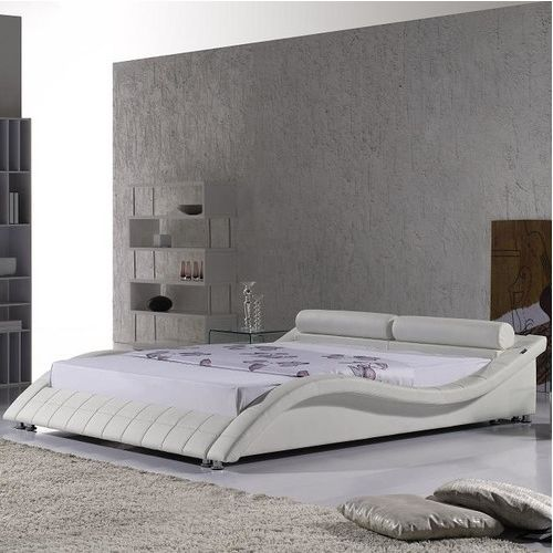 Cosmo White Faux Leather Bed Frame A