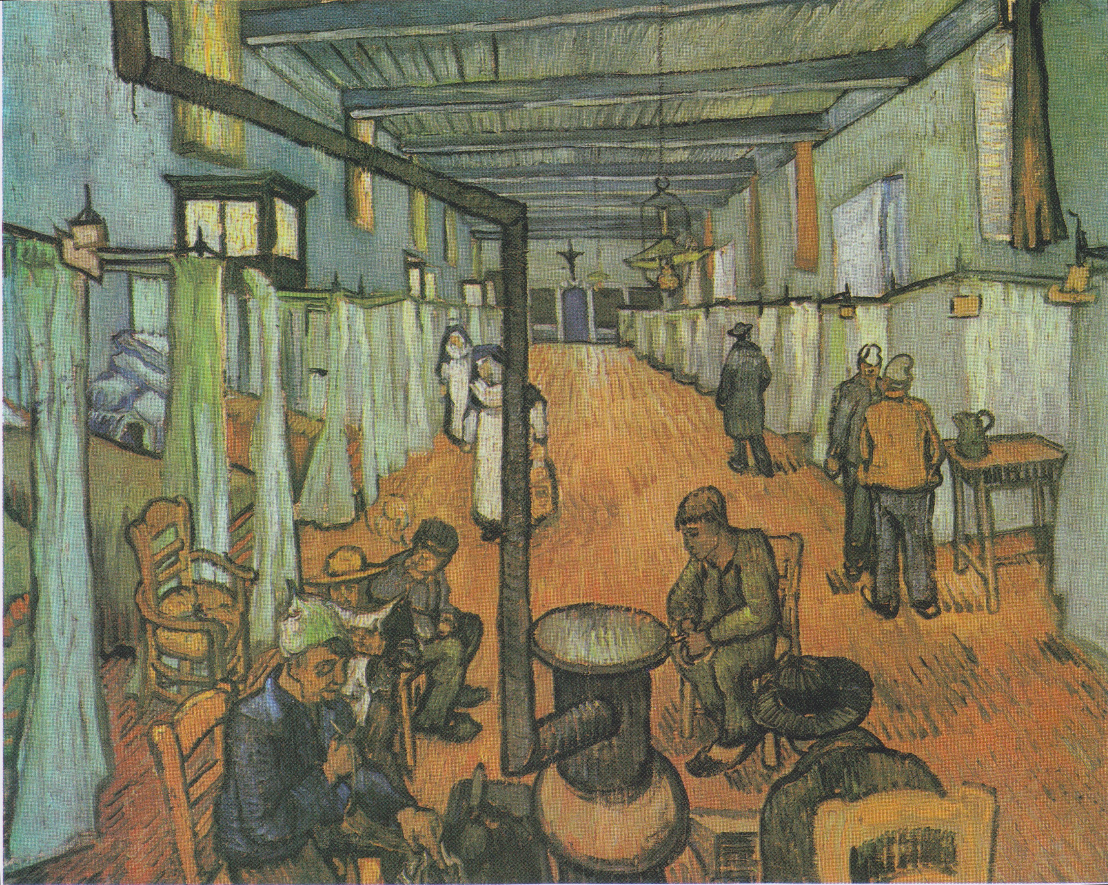 Vincent Van Gogh, Schlafsaal im Hospital in Arles,1889, Buch: Das ...