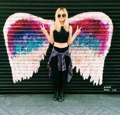 Angel Artsy Girly Grunge Hipster Outfit Tumblr Image Bohemian Pinterest Grunge
