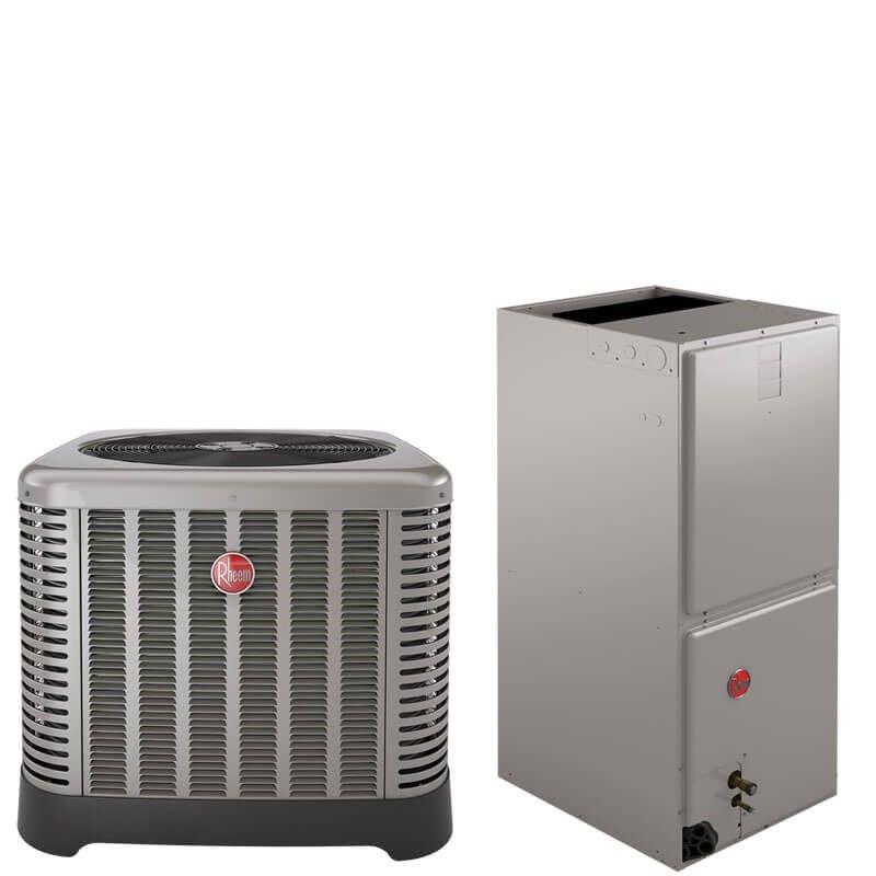 3 Ton Rheem 14 Seer R410a Air Conditioner Split System Classic Series National Air Warehouse Air Conditioner Cost Central Air Conditioners Split System