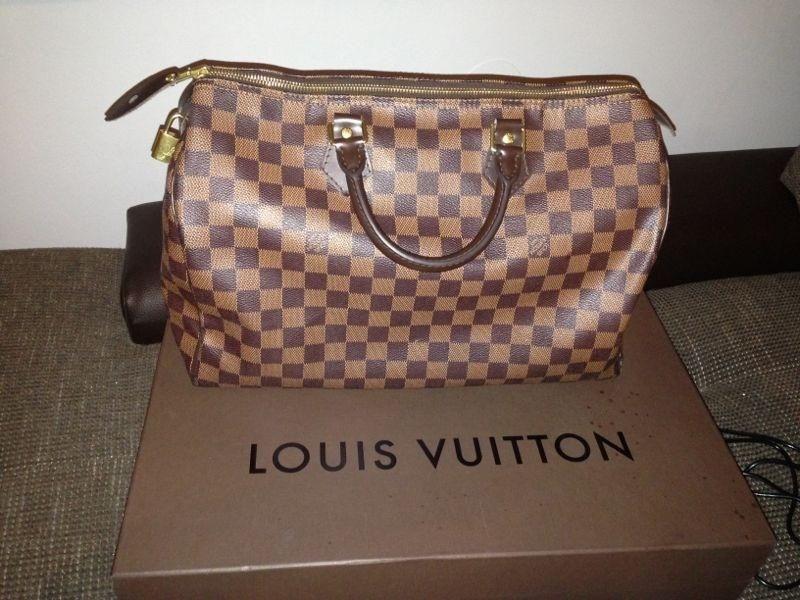 Louis Vuitton Speedy 35 Original Louis Vuitton Speedy 35 Mit