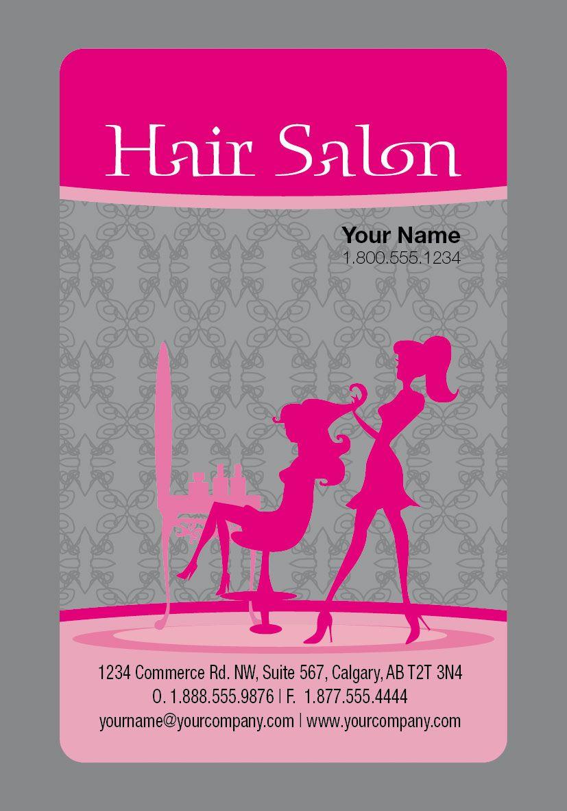 Cute hair salon business card pssssstits