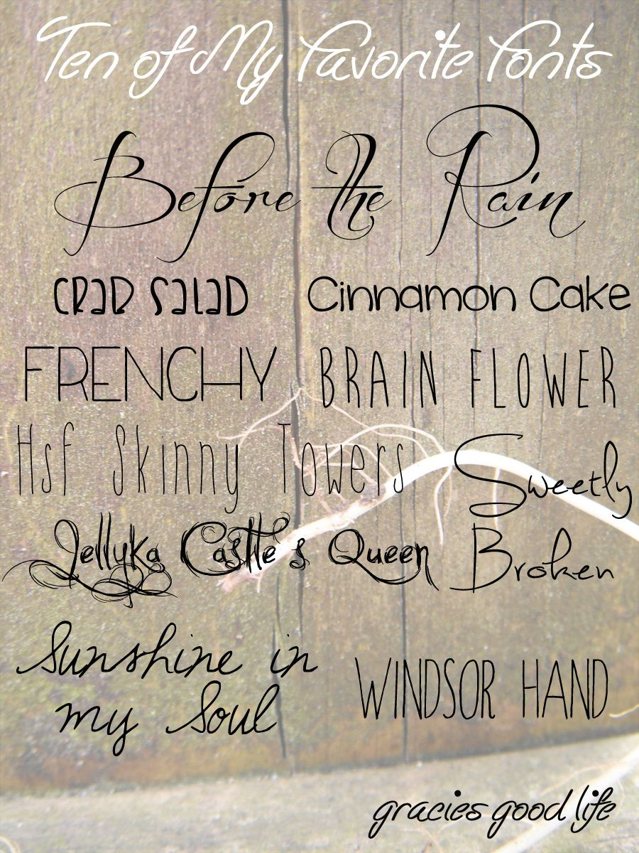 Ten of My Favorite Fonts(& How to Install Them) Fancy