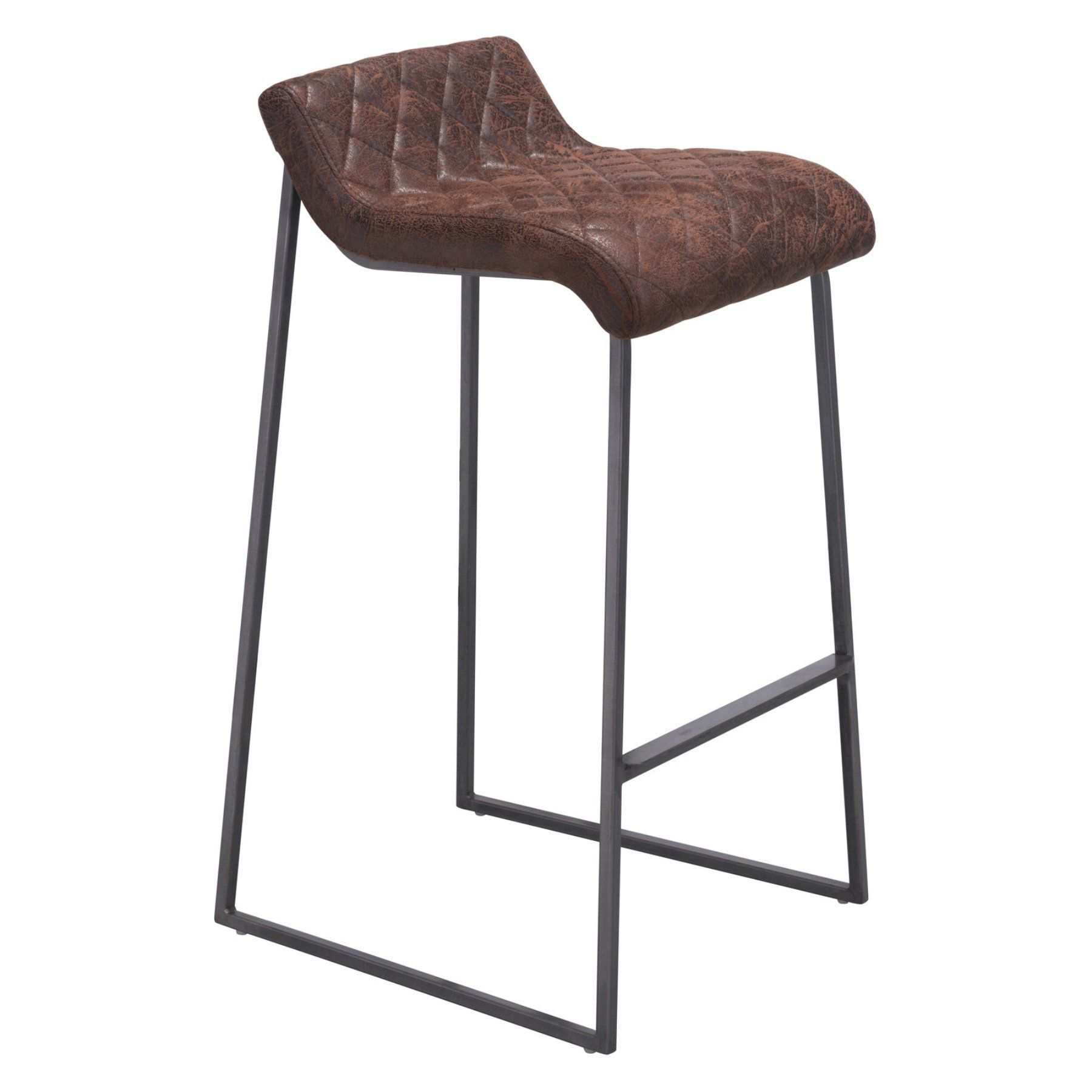 Zuo Modern Contemporary Father 31 in Bar Stool Set of 2