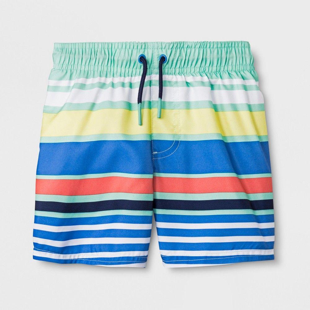 43a58baa7f Toddler Boys' Swim Trunks - Cat & Jack Blue 7 Gender: Male. Pattern ...