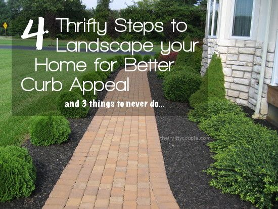 4 thrifty steps to landscape your home for better curb for Curb appeal garden designs
