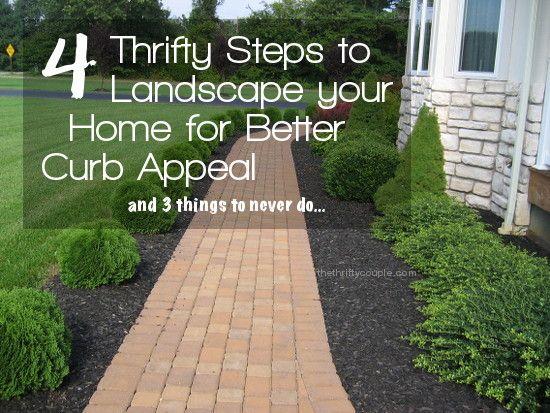 4 thrifty steps landscape