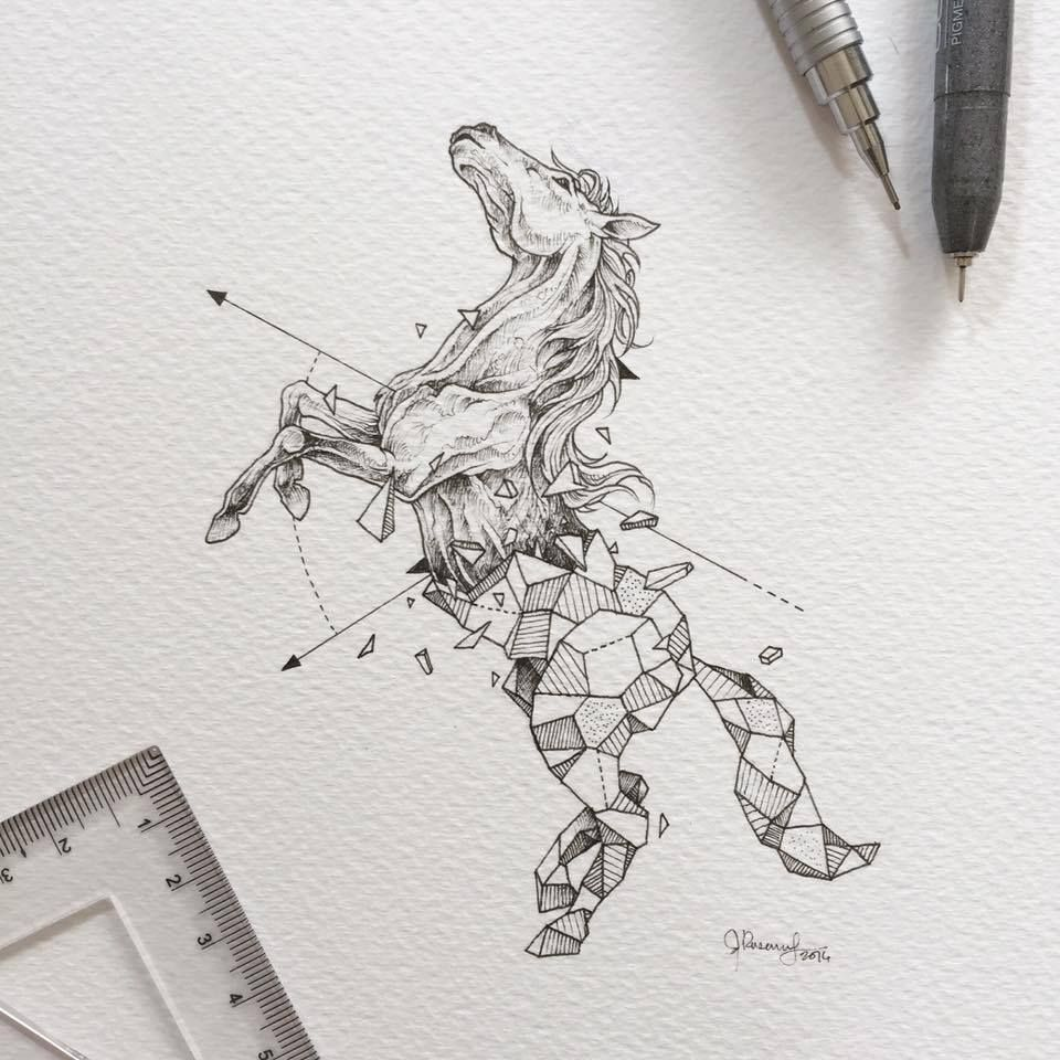 Geometric Beasts - Horse by Kerby Rosanes | Illustrations ...