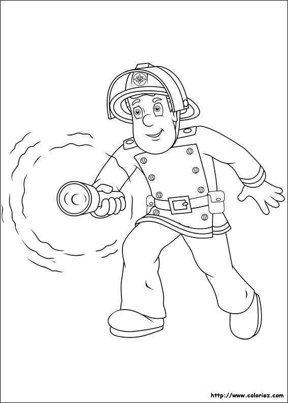 Pin de Gorgina Kincaid en Coloriages Sam le pompier  Pinterest