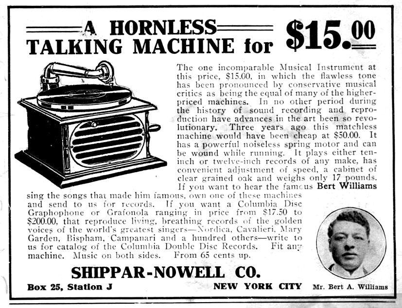 Shippar Nowell Company Hornless Talking Machine