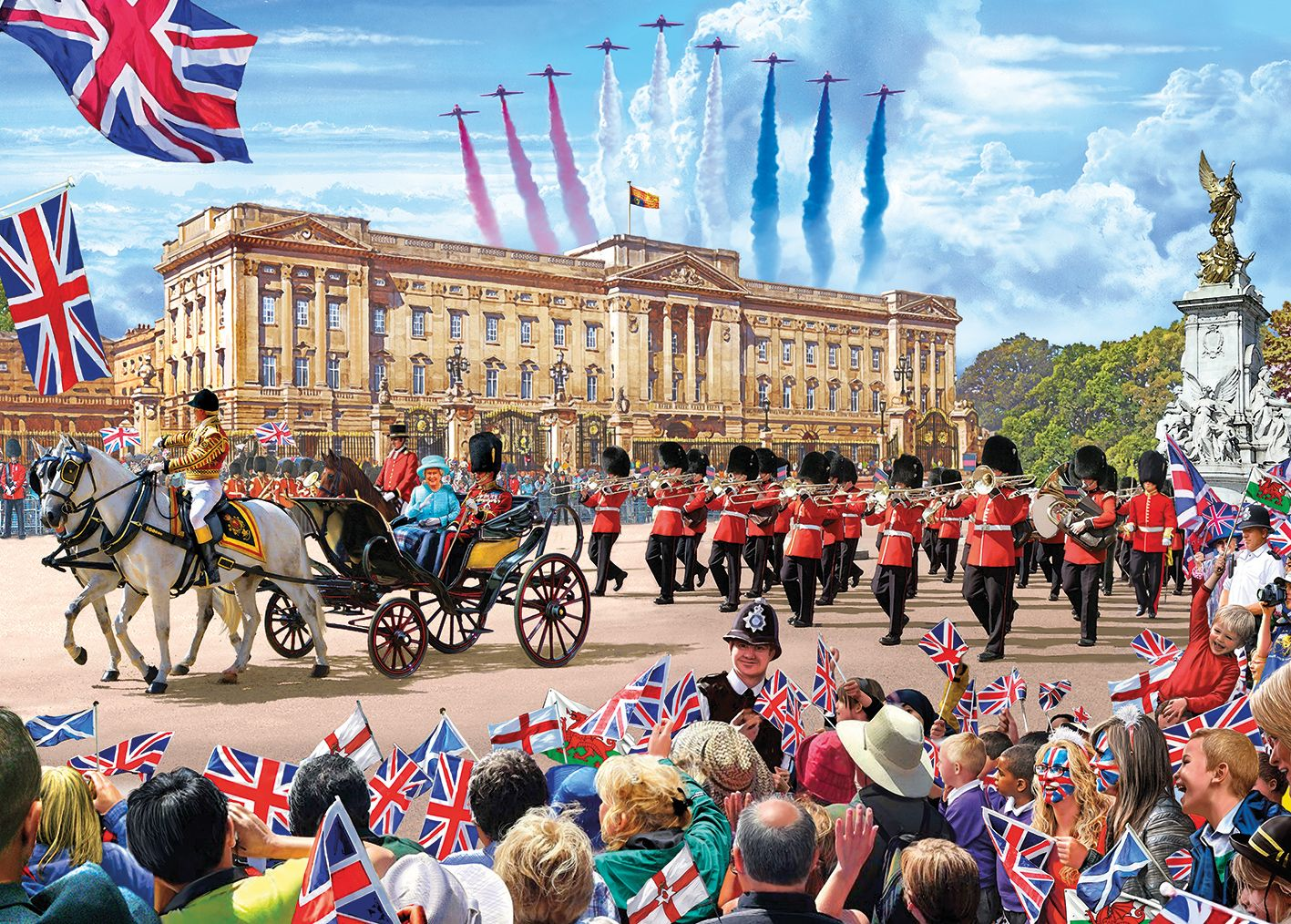 1000 Piece Gibsons Trooping The Colour Jigsaw Puzzle